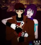 Gambit and Tatiana (Beyond-Sabretooth Art Trade) by TheAmazingMrSMY