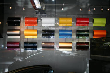 wall of colors at lamborghini by apo-25