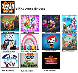 Loud Family's Favorite Shows by YangIsCool