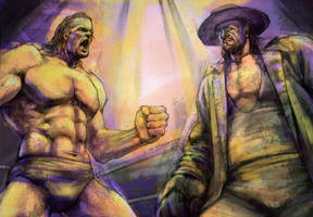 Triple H and Undertaker by hosanna9
