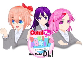 [NEW] Doki Doki Literature Club Hairstyles+COMIPO! by StrikeKid