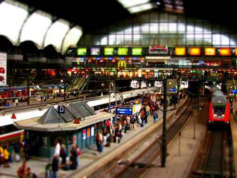 Hamburg Main Station by Ukikun