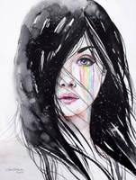 Rainbow tears by ericadalmaso