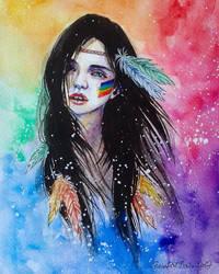 Rainbow girl by ericadalmaso