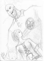 Big man, little woman. by Odjinn