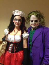 Joker and Quinn by skittysango