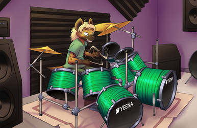 [commission] Playing drums by TheNekoboi