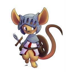 Rat crusader by TheNekoboi