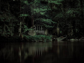 The Shack House River by IdaBarracuda