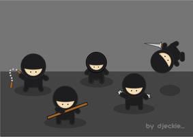 Gang of  Ninjas..... by djeckie
