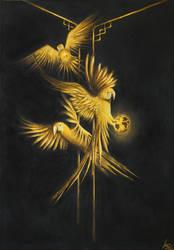 Golden Parrots of The Secret Jungle by LucaMolnar