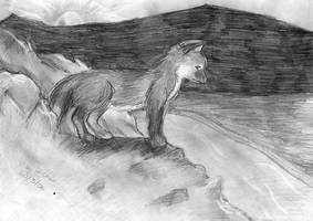 Lonely Fox by miqmi