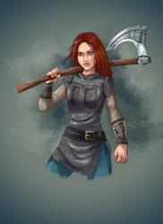 [COMM] Female Warrior by Gotetho