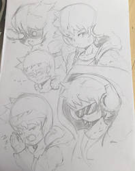 mc Facial expression practice by BlouTheBoy