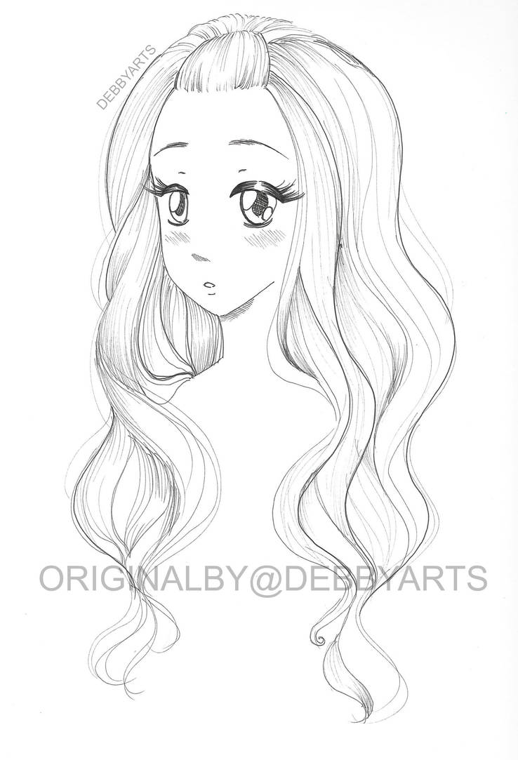 hair colouring drawing free download by debbyarts on deviantart