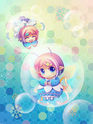 Fairy twins by ocarina-CD