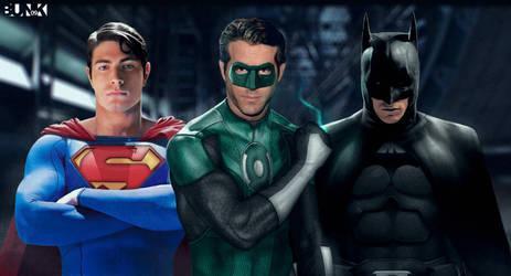 Superman - GL - Batman by Bunk2