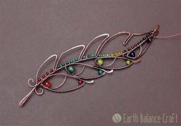 Green Woodpecker Feather by EarthBalanceCraft