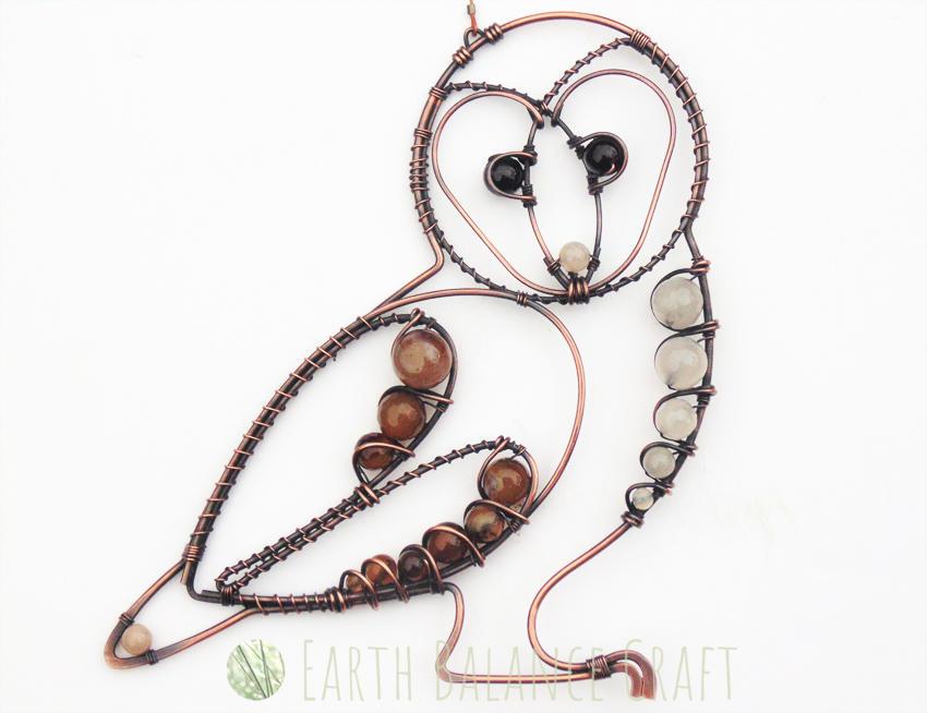 Barn Owl Decoation by EarthBalanceCraft