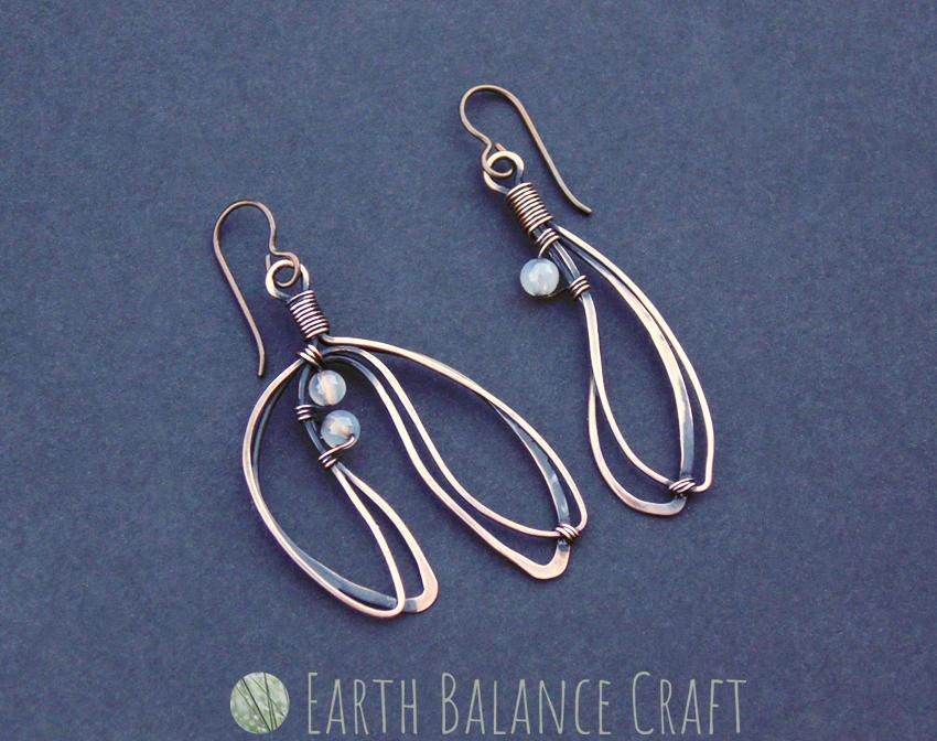 Mistletoe Earrings by EarthBalanceCraft