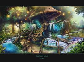 mushroom forest by hongryu