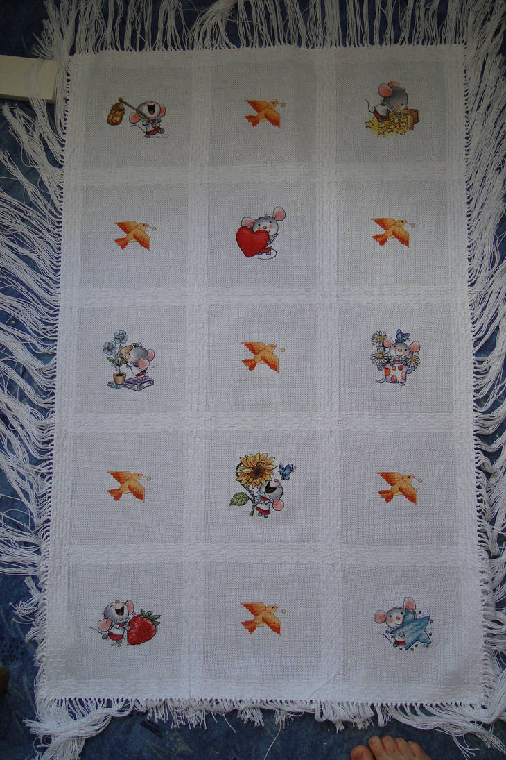 an afghan baby blanket by Thriin