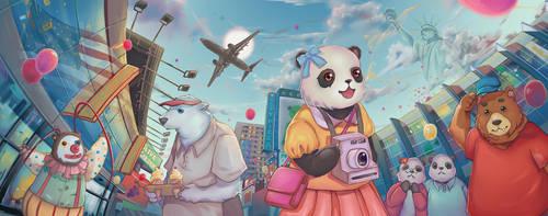 Lan Lan's World Adventure Book Cover by airibbon