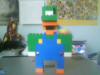Lego Luigi by Ziggy161