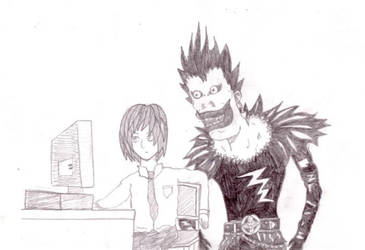 Light and Ryuk from DN -sketch by Ziggy161