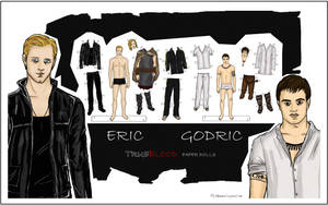 Eric and Godric paper dolls by Deerane