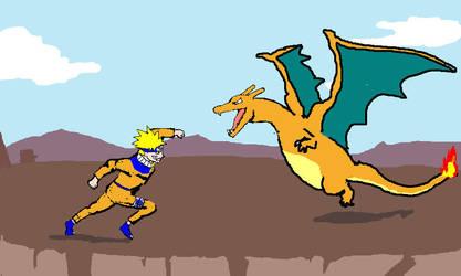 Naruto vs Charizard by Zemie