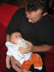 Future dad and Baby Champ by Zazou8