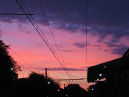 Sunrise on the train station by Zazou8
