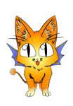 Devil Devil Bat cat vector by Zazou8