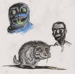 monstro, sr man e cao gregorio by rrool