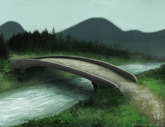 A Bridge and Stream by ghoulchris