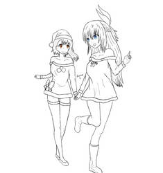 Onodera and Chitoge lines :3 by Zoleon