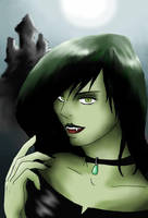Shego as vampire by ShadowOfSilent