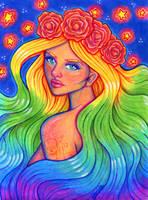 Rainbow Goddess by Ithelda