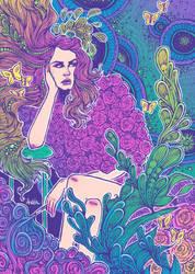Lana Del Rey (Colored) by Ithelda