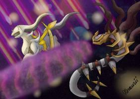 Battle of the Legends by NemuriiPikachu