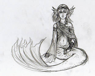 Mermaid Character Sketch by angelvi