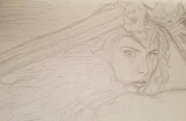 COMMISSION: Wonder Woman WIP by angelvi
