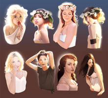 How to light Your bust - flower power! by mannequin-atelier