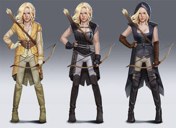 Elf archer concept designs by mannequin-atelier