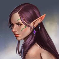 Elf portrait by mannequin-atelier