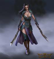 Dark Elf female leader by mannequin-atelier