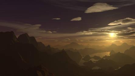 Sunset on an alien world #1 by DylserX