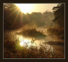 Dawn on the river by Koptelov