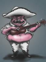 Mariachi Pig! by JosueMariscal